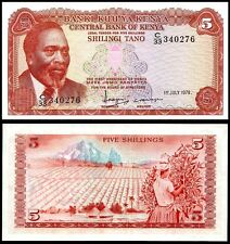 Kenya 5 SHILLINGS 1978 P 15 UNC