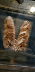 GENUINE SUEDE AND LYNX FUR WOMEN GLOVES MEDIUM/MEDIUM LARGE SIZE