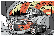 "BERLIN BURNOUT  18 x 25"" silk scren print by Max Grundy"