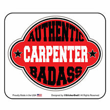"""AUTHENTIC BA CARPENTER (3 Pack) Hard Hat Printed Sticker (size: 2"""" color: RED)"""
