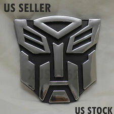 3D Chrome Autobot 4 Inch Transformers Emblem Badge Decal Car Stickers Truck
