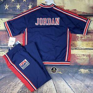 Michael Jordan Team USA Basketball Mitchell & Ness Olympics Warm Up Jacket Pants