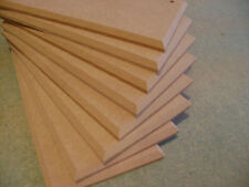 """18 PLAQUES  8"""" x 4""""  MDF WOODEN  PLAQUES CHAMFERED EDGE WITH HOLES"""