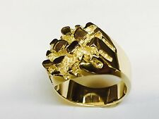 14kYellow Gold Nugget Design Fashion Ring 20 grams 23 MM
