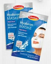 Hyaluronic Moisturising & Hydrating Face Mask by Schaebens, Double Pack 4 x 5ml