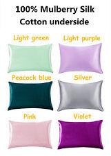 New 100% Nature Silk Pillowcases Pillow Case with Hidden Zipper Hypoallergenic