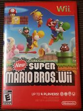 New Super Mario Bros. (Wii, 2009) Red case Complete Tested Nintendo Yoshi Luigi
