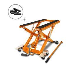 Bequille d'Atelier Cric Moto Hydraulique Lift ConStands  XL orange incl. 4 blocs