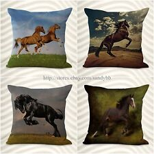 set of 4 throw pillow cover cheap cushion covers equine horse equestrian