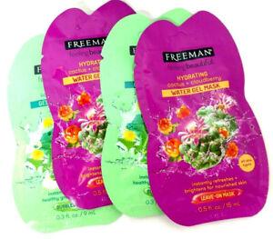 Freeman Hydrating Water Gel Mask 0.5 oz. / Detoxifying Gel Bubble Mask 0.3 oz.