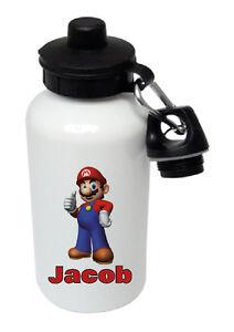 Mario - Personalised Kids/Drinks/Sports Childrens Water Bottle