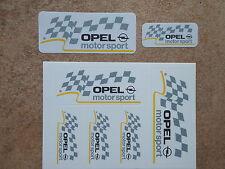 2 Sets 10 Stck Aufkleber Opel Motorsport weiss (1050)
