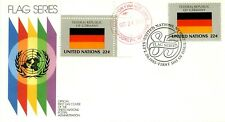 FIRST DAY COVER 1985 UNICEF UNITED  NATIONS FLAGS FROM GERMANY $19.95