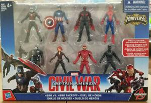 Captain America Civil War Hero vs Hero Faceoff Miniverse Marvel Avengers