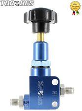 TORQUES M10x1.0 MALE Billet Aluminium Adjustable Brake Bias Valve in Blue