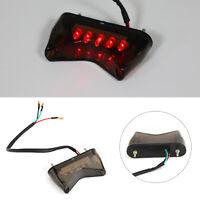 1x Bremslicht Rücklicht LED Für Universal Motorrad Bobber ATV Dirt Bike Rauch