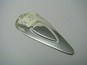 KIRK STERING SILVER BOOKMARK CLIP PAGE MARK by Samuel Kirk & Son 1950s Mono R.F.