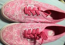 VANS AUTHENTIC HELLO KITTY VN-0OKNL8T PINK WHITE CANVAS SHOES KIDS SZ 1 YOUTH