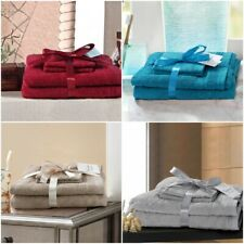 100% EGYPTIAN COTTON 4 PIECES TOWEL BALE SET 500 GSM HOTEL FACE HAND BATH TOWELS