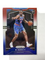 2019-20 PANINI PRIZM RJ Barrett ( NY KNICKS ) RED WHITE & BLUE PRIZM RC #250 B1