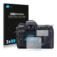 6x Displayschutzfolie für Nikon D200 Klar Transparent Schutzfolie Displayfolie