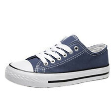 Blue US9.5 Classic Mens Canvas Trainers Athletic Shoes Sneakers Flat Heels Sport