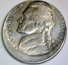 1983 ERROR Jefferson Nickel OFF CENTER BU + Coin ~ NICE O/C LOT #83    NR
