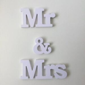 wedding decorations white Mr And Mrs Shapes Letter Sign Wedding Blank