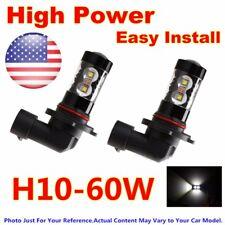 60W White H10 9005 Fog Light Kit LED Bulbs Replace For 03-06 Chevrolet Silverado