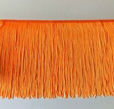 "12"" ORANGE Chainette Fabric Fringe Lampshade Lamp Costume Trim by the Yard"