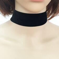 Necklace Gothic Handmade Retro Jewelry Thick Black Velvet Choker Ribbon