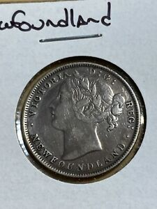 1865 Newfoundland 20 Cents Silver Coin!! Low Mintage!!
