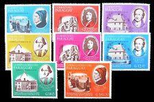 PARAGUAY 1966 Famous Writers (8) U/M NB182