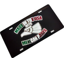Mexico Laser Cut  license plate Made In USA with Mexican Parts