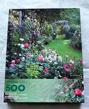 Springbok The Garden Path Jardin de Fleurs 500 Piece Jigsaw Puzzle Complete 1999