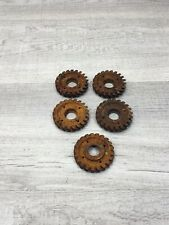 Rusty Industrial Machine Age Steel Lot 5 Gears/Cogs Steampunk Art Parts Lamp