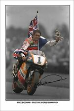 * MICK DOOHAN * large autographed poster of moto gp star!!