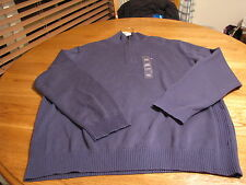 Men's Tommy Hilfiger long sleeve sweater XL blue zip pull over NEW