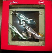 NEW Disney 3 Princesses Cinderella Glass Slippers Christmas Ornaments Hallmark