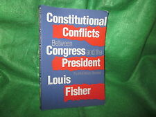 Book * Cnstitutional Conflictsl Congress Vs Pres PB 2002 Politi Science Textbook