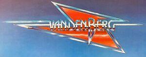 """Vandenerg Die Cut Logo Sticker Adrian Vandenberg Whitesnake 4""""x9"""" ORIGINAL"""