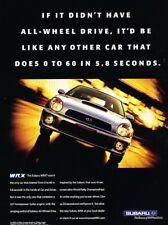 2001 2002 Subaru Impreza WRX Original Advertisement Print Art Car Ad J907