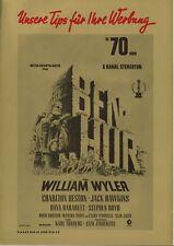 Werberatschlag | BEN HUR | Original MGM 1969 | Charlton Heston | Riesenformat