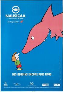 Original Vintage Poster Nausicaa French Aquarium Fish Travel Shark