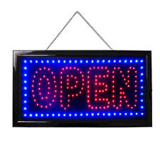 "19x10"" Horizontal Neon Open Sign Led Light Bright Restaurant Business Bar Bright"