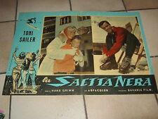 FOTOBUSTA,1958,LA SAETTA NERA,Der schwarze Blitz,TONI SAILER,H.GRIMM,SCI,CORTINA