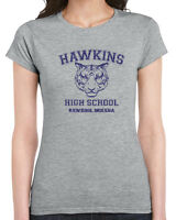 539 Hawkins High School womens T-shirt funny stranger tv show things costume new