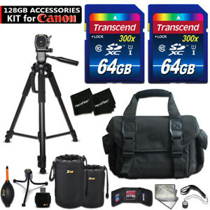 128GB Accessory Kit for Canon EOS 80D, 70D, EOS Rebel T6i, T6S, T5i, T5, T4i