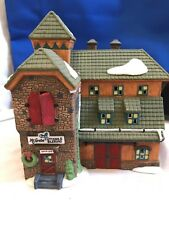 "Dept 56 New England Village ""McGrebe Cutters and Sleighs"""
