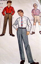 *LOVELY VTG 1960s BOYS SHIRT & PANTS Sewing Pattern 6
